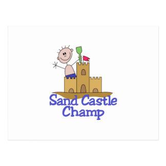 Sand Castle Champ Postcard