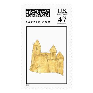 Sand Castle Custom Postage