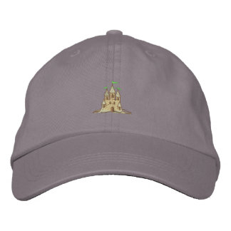 Sand Castle Embroidered Hat