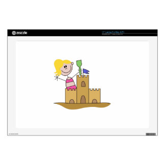 "Sand Castle Girl 17"" Laptop Decal"
