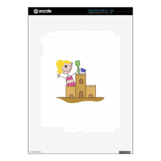 Sand Castle Girl Decal For iPad 2