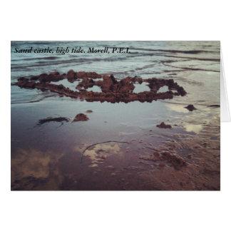 Sand castle, high tide. Morell, P.E.I. Greeting Card