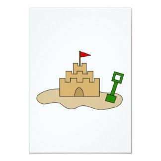 "Sand Castle 3.5"" X 5"" Invitation Card"