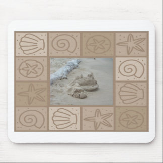 sand castle mouse pad