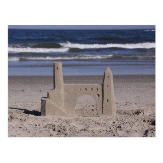 sand castle, ocean city postcard