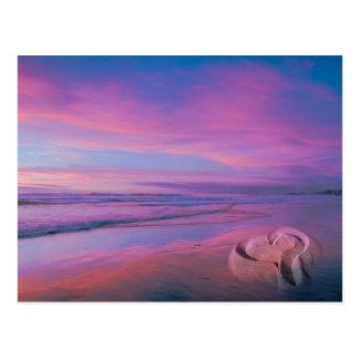 Sand Castle of Love Postcard