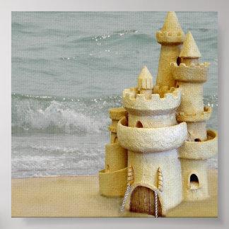 Sand Castle Photo Backdrop Poster