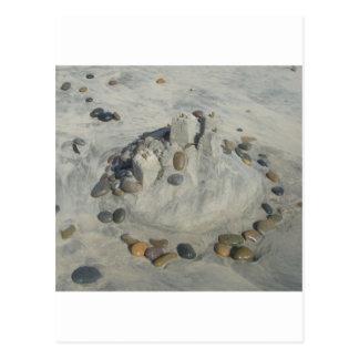 Sand Castle Postcard