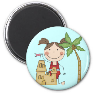Sand Castle Queen Tshirts and Gifts 2 Inch Round Magnet