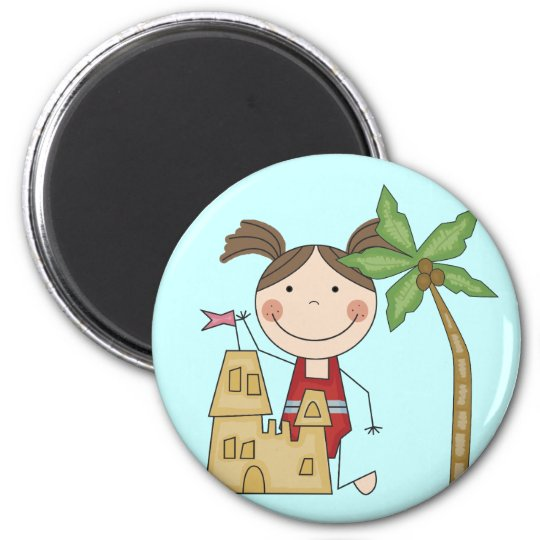 Sand Castle Queen Tshirts and Gifts Magnet