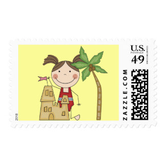 Sand Castle Queen Tshirts and Gifts Postage Stamp