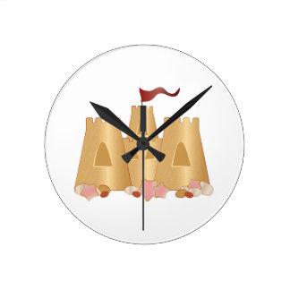 Sand Castle Round Clock