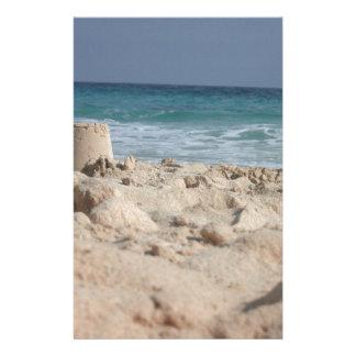 sand castle stationery