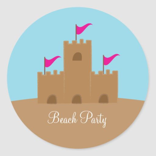 Sand Castle Stickers