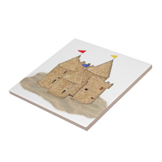 Sand Castle Small Square Tile