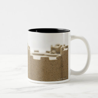 Sand castle Two-Tone coffee mug