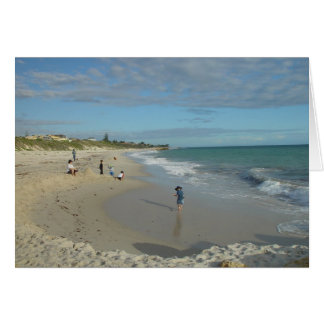 Sand Castle (Well, Heap) At Wanneroo Beach Facing Greeting Card