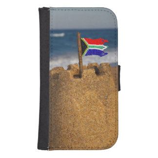 Sand Castle With South African Flag, Umhlanga Galaxy S4 Wallet Case