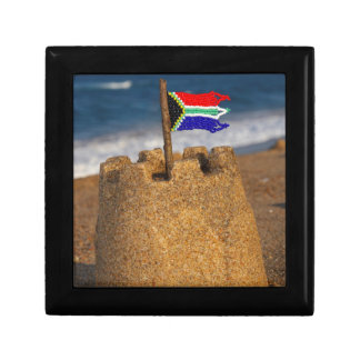 Sand Castle With South African Flag, Umhlanga Gift Box
