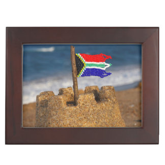 Sand Castle With South African Flag, Umhlanga Keepsake Box