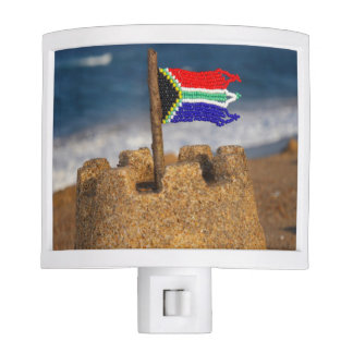 Sand Castle With South African Flag, Umhlanga Night Light
