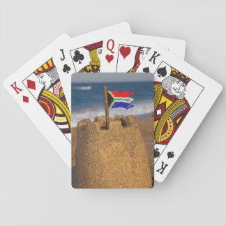 Sand Castle With South African Flag, Umhlanga Card Decks