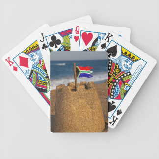 Sand Castle With South African Flag, Umhlanga Bicycle Poker Deck
