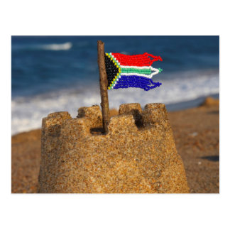 Sand Castle With South African Flag, Umhlanga Postcard