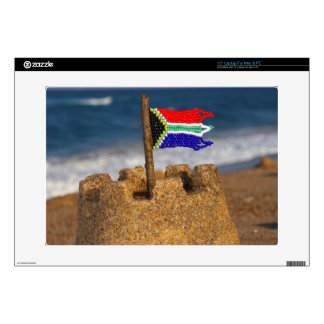 """Sand Castle With South African Flag, Umhlanga Decals For 15"""" Laptops"""