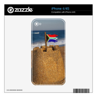 Sand Castle With South African Flag, Umhlanga Skins For iPhone 4