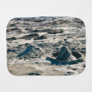 sand castles lumps on florida beach baby burp cloth