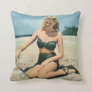 Sand Castling Throw Pillow