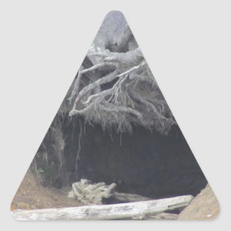 Sand Cave at the Beach Triangle Sticker
