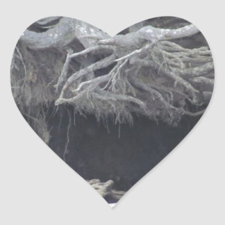 Sand Cave at the Beach Heart Sticker