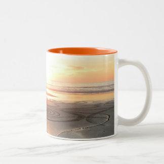 Sand Circle at Sunset Mug