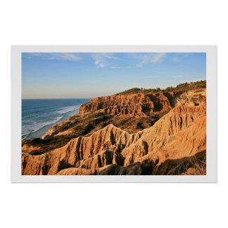 Sand Cliffs at Torrey Pines Poster