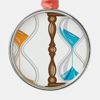 Sand Clock vector Metal Ornament
