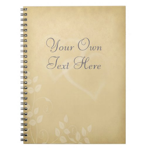 Sand Color Vintage Hearts Note Books