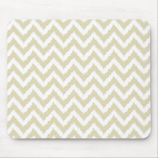 Sand Colored Neutral Chevron Pattern Mouse Pad