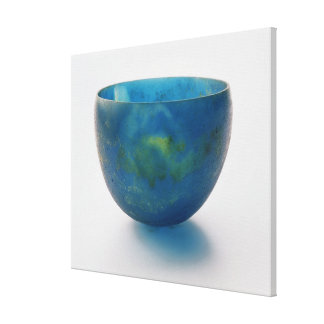 Sand-core glass bowl found in the Bernardini tomb Canvas Print