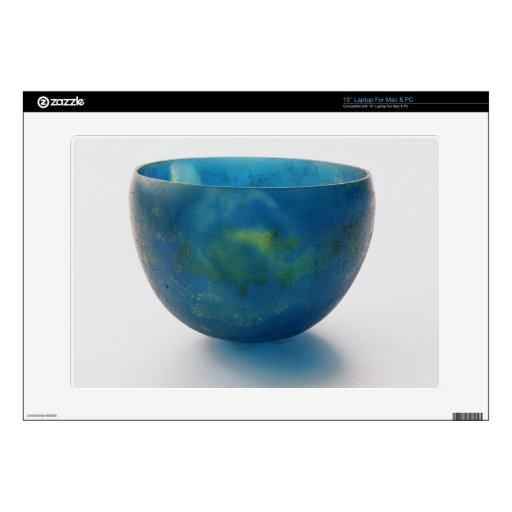"""Sand-core glass bowl found in the Bernardini tomb 15"""" Laptop Decal"""