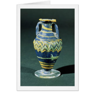 Sand-core glass unguent flask (amphoriskos) from P Card