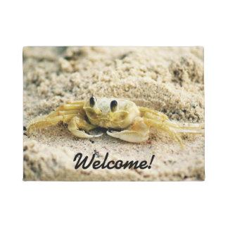 Sand Crab, Curacao, Caribbean islands, Photo Doormat