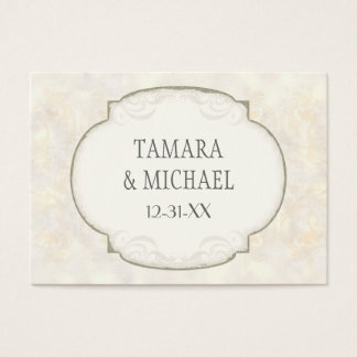 Sand Damask Ocean Beach Nautical Themed Wedding Business Card