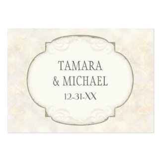 Sand Damask Ocean Beach Nautical Themed Wedding Business Card Template