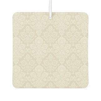 Sand Delicate Floral Swirl Air Freshener