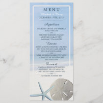 Sand Dollar and Starfish Beach Wedding Menu