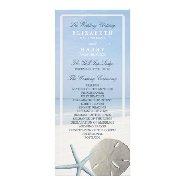 StampedyStamp Sand Dollar and Starfish Beach Wedding Program