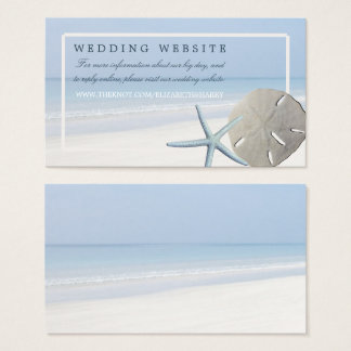 Sand Dollar and Starfish Beach Wedding Website Business Card
