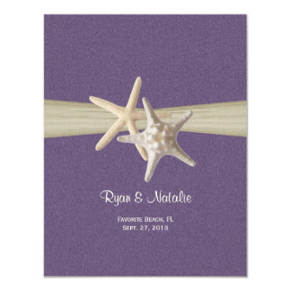 Sand Dollar and Starfish Reception 4.25x5.5 Paper Invitation Card
